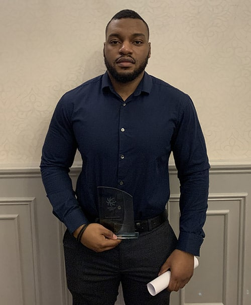 Anthony White award winner Terry Lifts apprentice