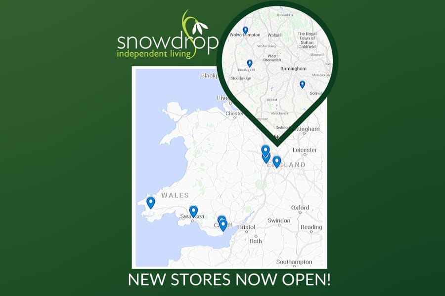 snowdrop independent living new stores