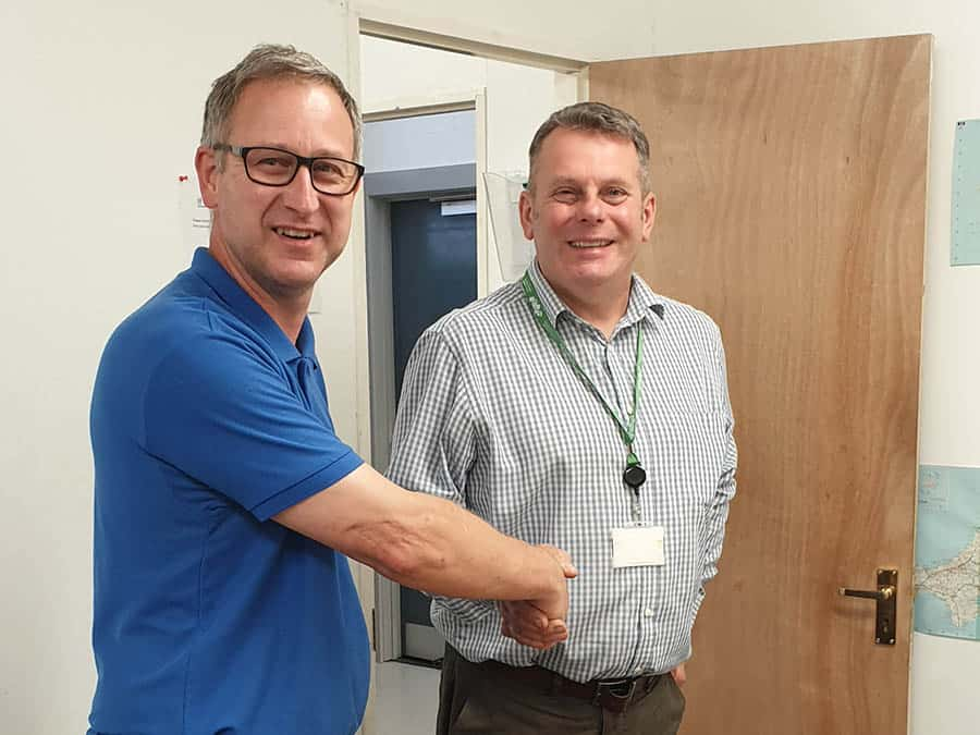 Kevin with Andy Hichens south Gloucestershire commissioning manager