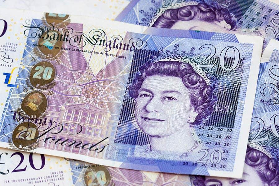 money cash pounds support