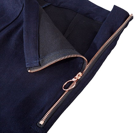 Jeans rose gold zip