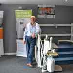 Steve and Nigel at Dolphin Lift Midlands new Stafford showroom and office
