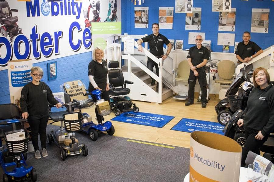 Mobility Scotland team showroom