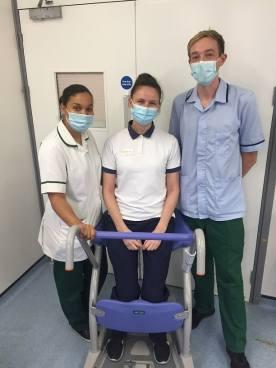 Shine International donates Arjo Sara Stedy to Milton Keynes hospital image