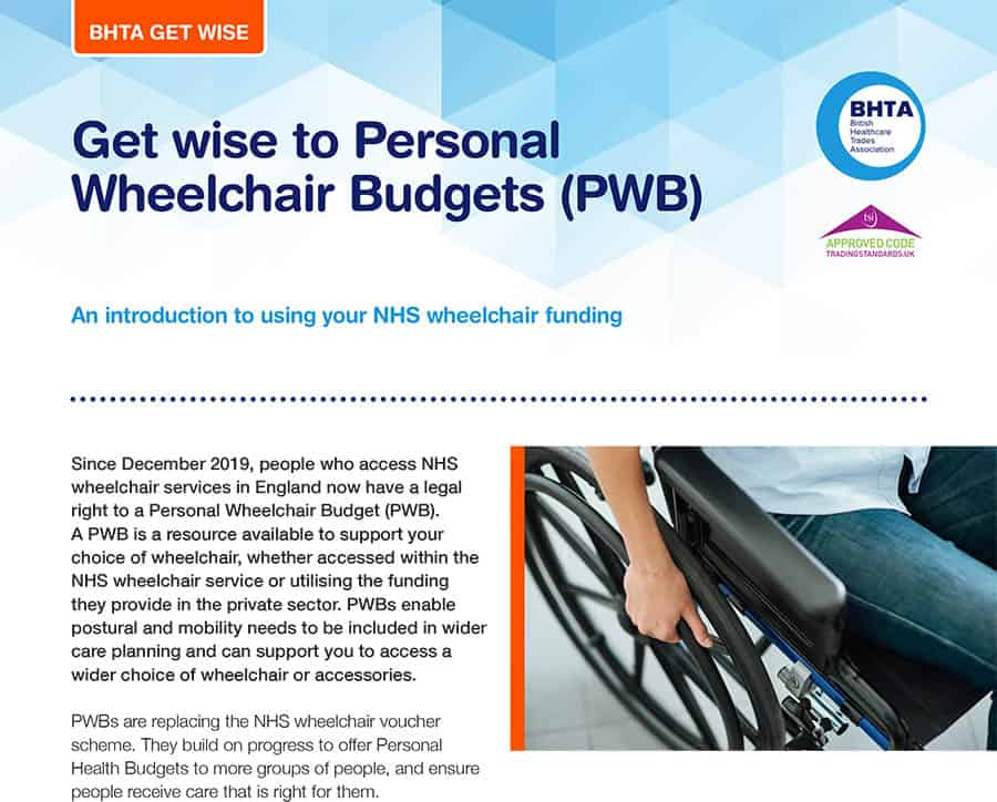 BHTA Get wise to Personal Wheelchair Budgets (PWB) image