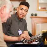 Social worker with service user image