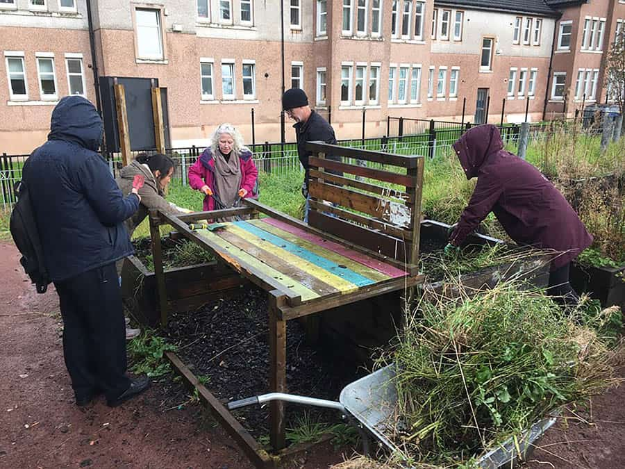 HHC developed a vegetable patch for the local community previously image