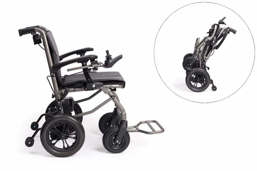 efoldi powerchair and powechair folded