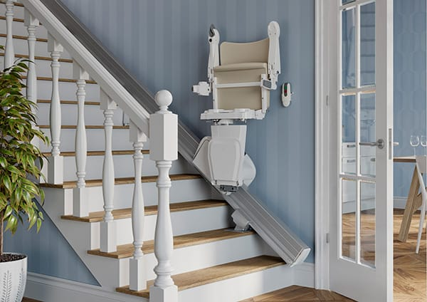 Non-handed Handicare 1100 Straight Stairlift with Slide Track image