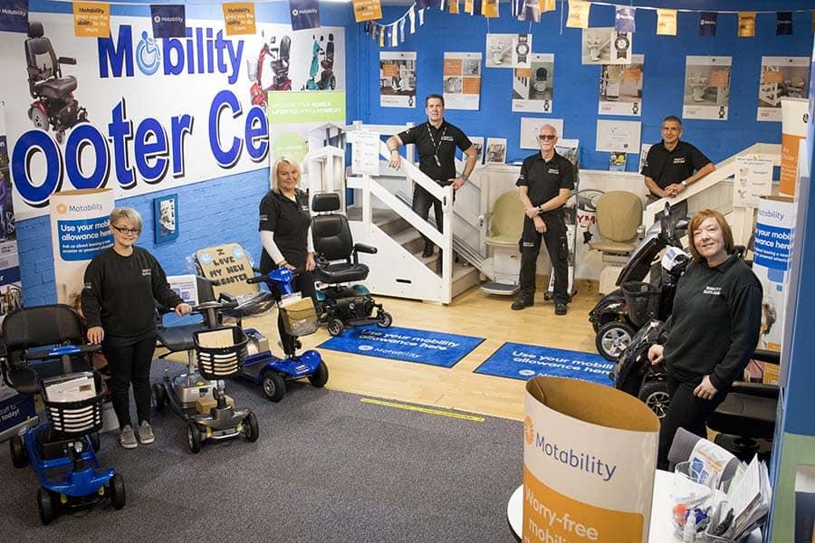 Mobility Scotland showroom image