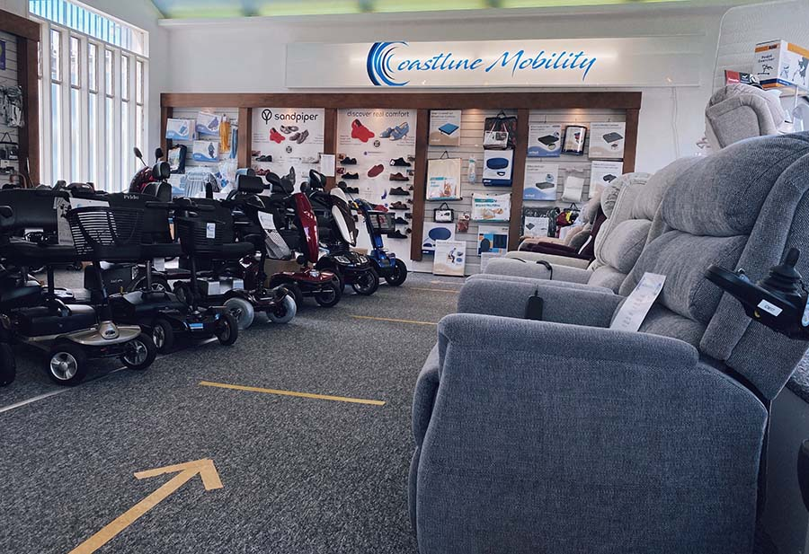 Coastline Mobility Sidmouth store website