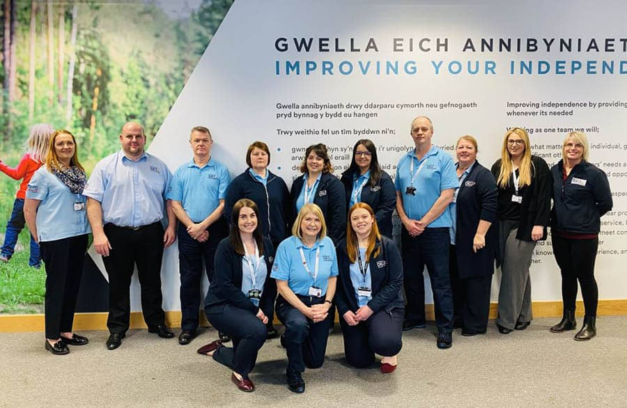 Carmarthenshire County Council's Delta Wellbeing team image