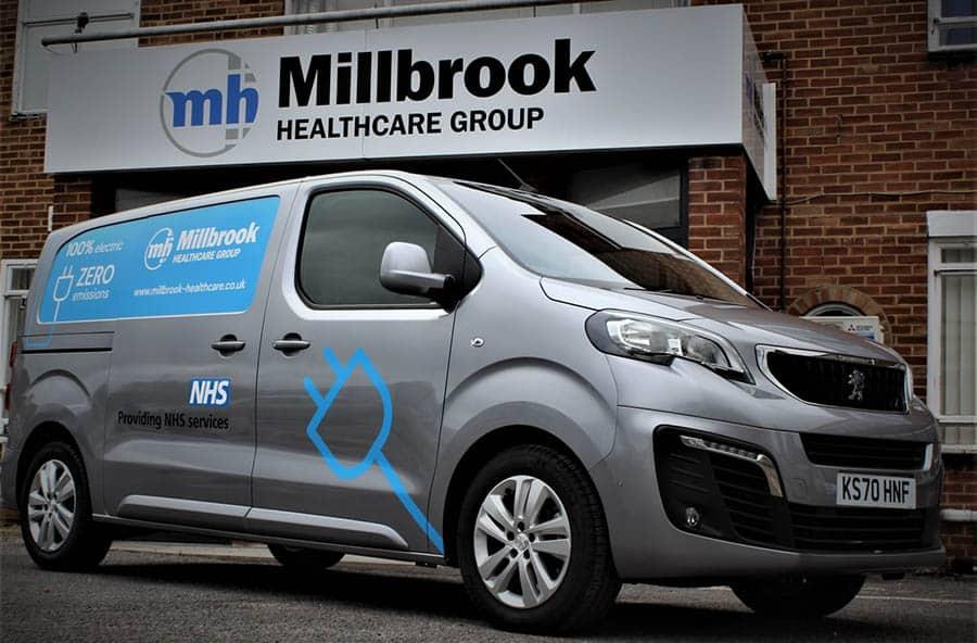 Millbrook Healthcare electric van image