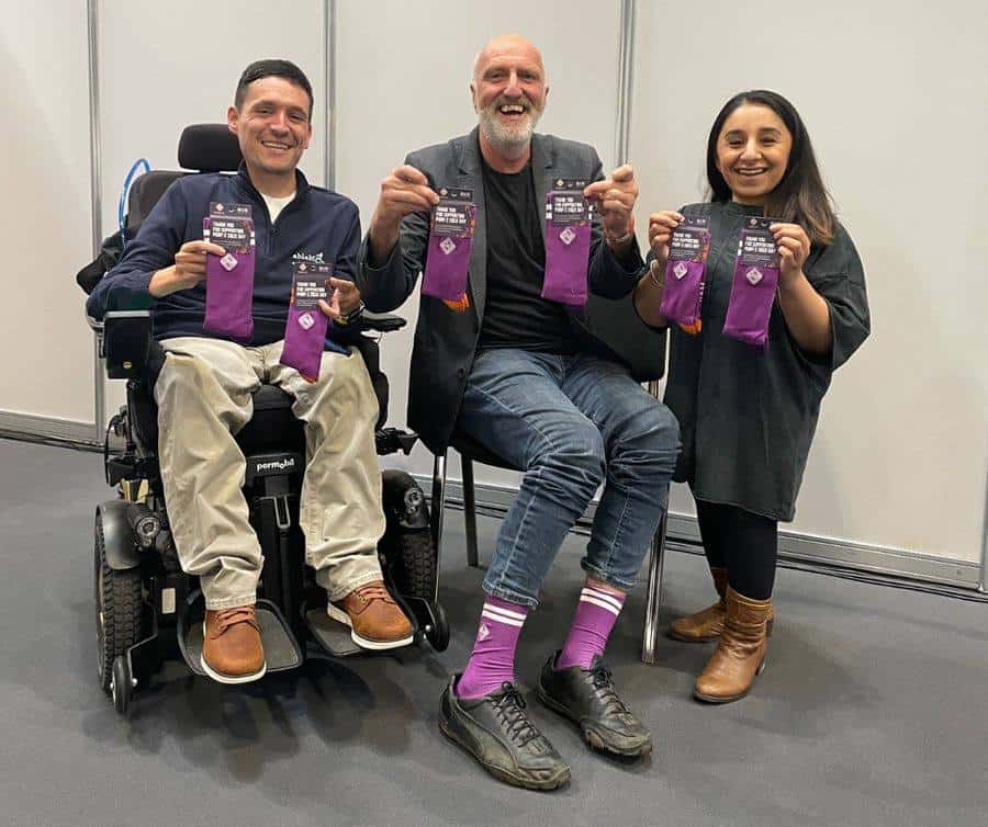 (From left to right) Josh Wintersgill, Founder, ableMove UK; Andrew Douglass, Founder, Parallel Lifestyle; Shani Dhanda, Founder, Diversability Card