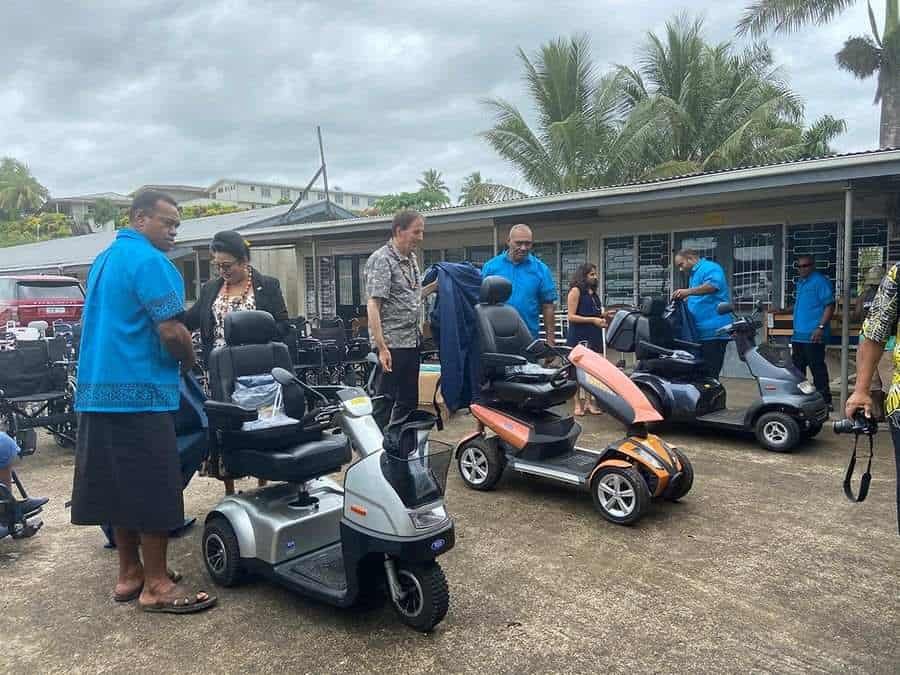 TGA Mobility scooters arrive in Fiji