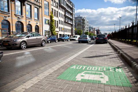 Parkeerplaats voor deelauto