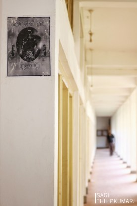 A (forbidden) Black Tiger Poster in the hallway of the University of Jaffna