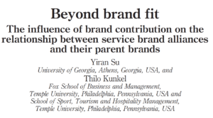 The influence of brand contribution