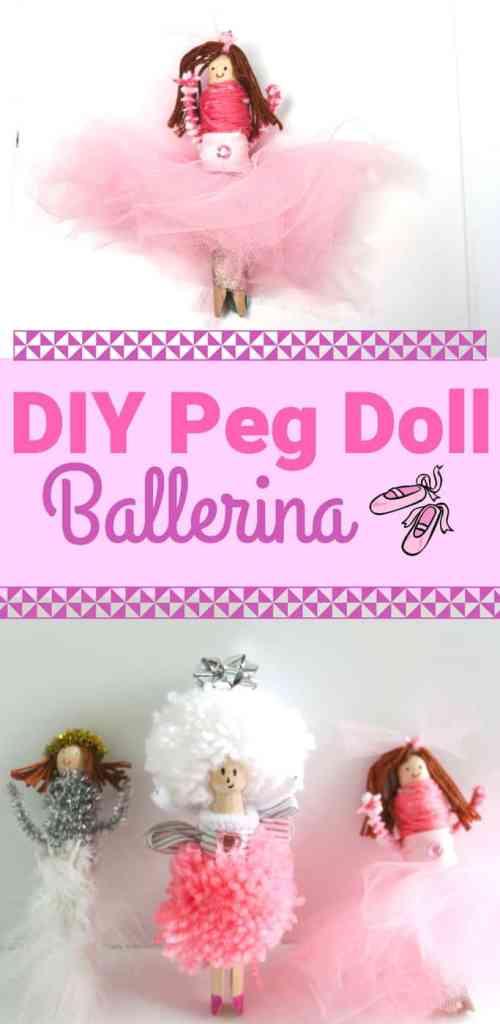 DIY wooden Peg Doll Kit Crafts for Kids
