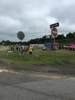 Atheist protestors on the highway near the entrance. I wanted to get a better picture, but we were in a rush to get in to the ark.