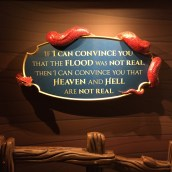 A non-biblical warning in the fairy-tale room. Pretty ominous.