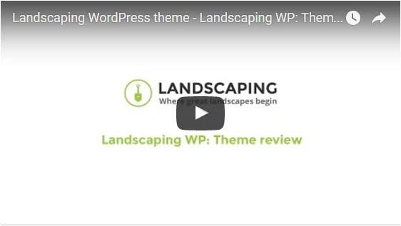 Landscaping WordPress theme - Landscaping WP