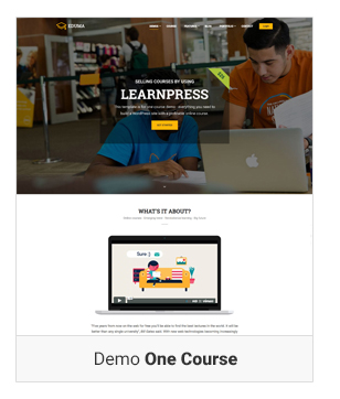 Education WordPress theme - Demo one course