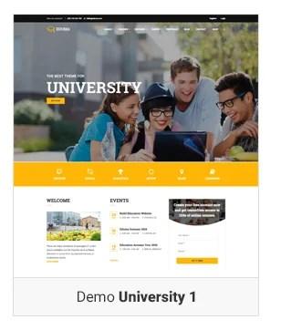 Education WordPress theme - Demo university 1
