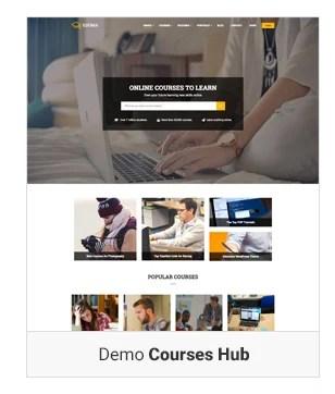 Education WordPress theme - Demo course hub