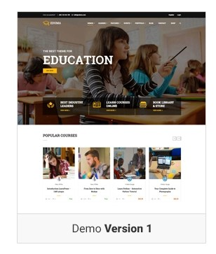 Education WordPress theme - Demo 1