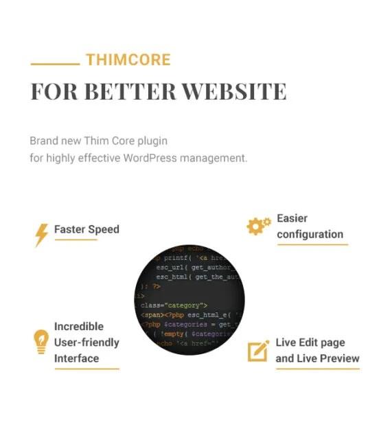 Hotel WordPress theme - Thim Core