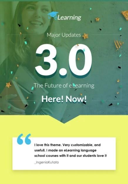 eLearning WordPress LMS 3 released