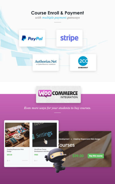 Sell Course with WooCommerce