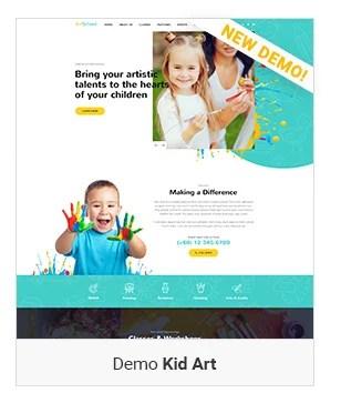 Kid Art - Education WordPress Theme