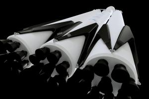 Falcon Heavy 3D model Closeup
