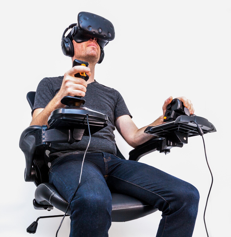 office chair joystick mount swing replacement canopy elite dangerous flight sim cockpit mounts by william shea brown dec 3 2017 view original