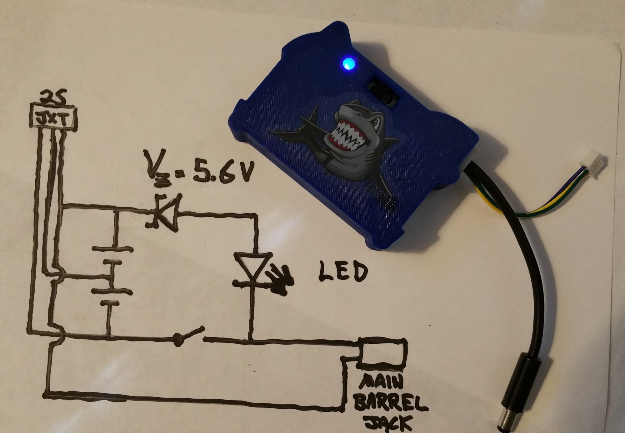 hight resolution of fat shark fpv goggle battery with on off switch and power indicator