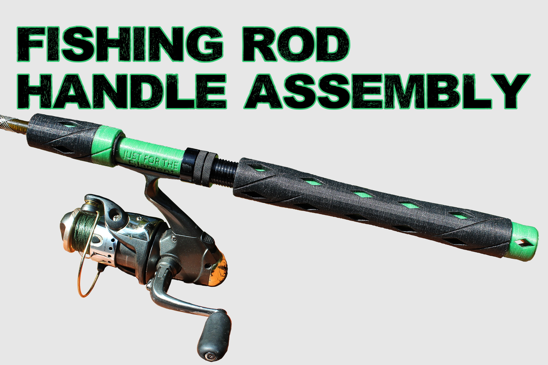 hight resolution of spinning rod fishing rod handle assembly by revamped outdoors oct 21 2018 view original