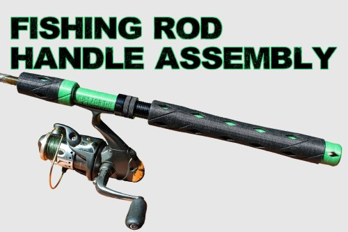 small resolution of spinning rod fishing rod handle assembly by revamped outdoors oct 21 2018 view original