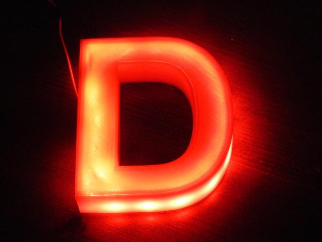 Illuminated Letter D Der Beleuchtete Buchstabe D By