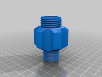 """1/2"""" NPT (pipe thread) to Garden Hose Adapter by dhmclean ..."""