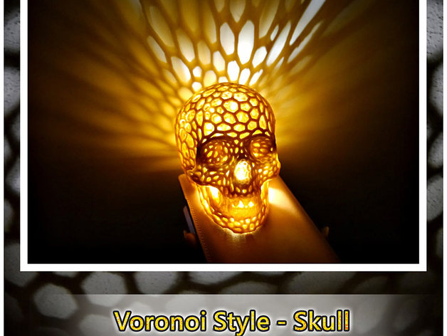 Skull Lamps Voronoi Style By Shiuan Thingiverse