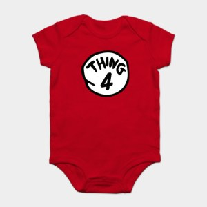 Thing One and Thing Two Baby Bodysuits