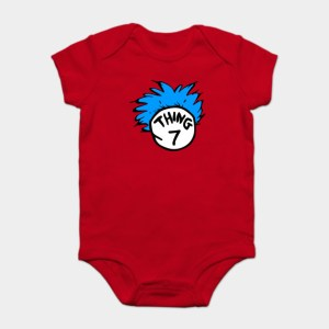 Thing 1 and Thing 2 Baby Bodysuits