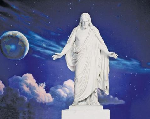 Christus statue at temple square