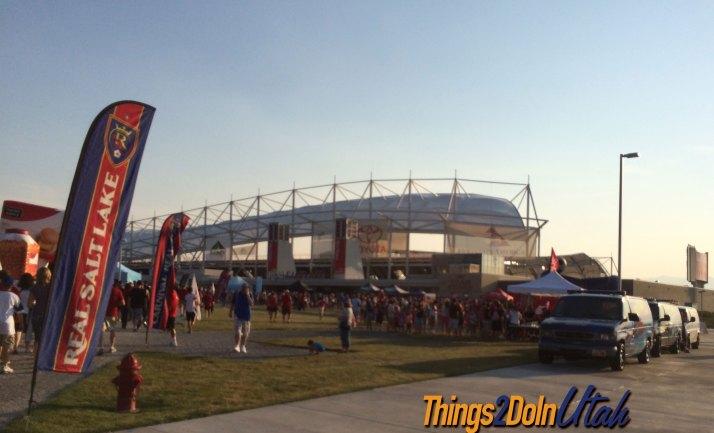 Rio Tinto Stadium where Real Salt Lake plays