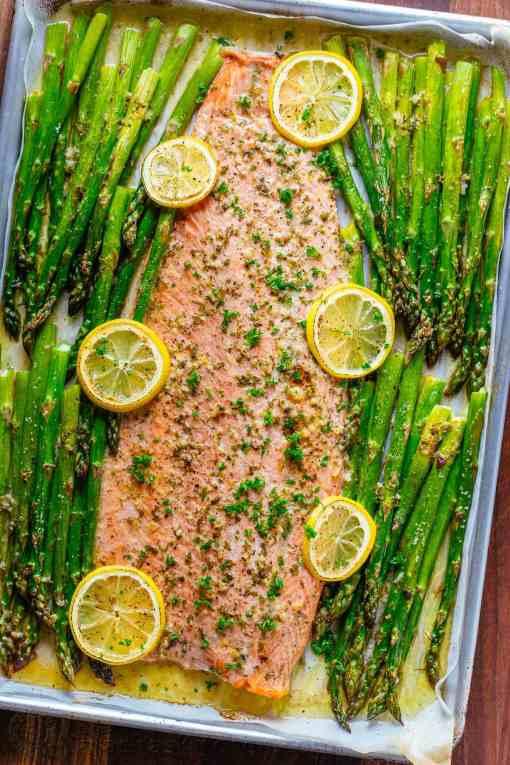 Paleo Lemon Salmon Asparagus
