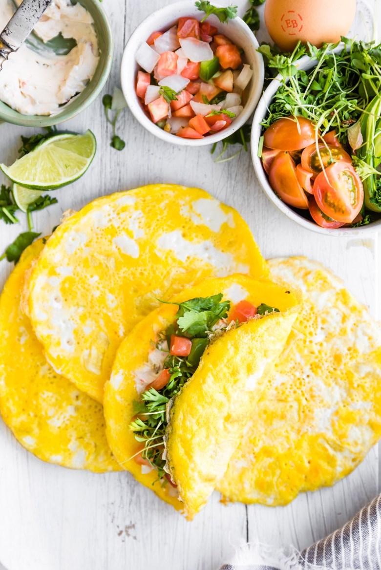Paleo egg taco