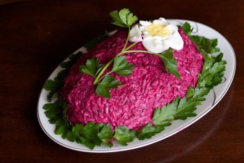 Herring under fur coat salad
