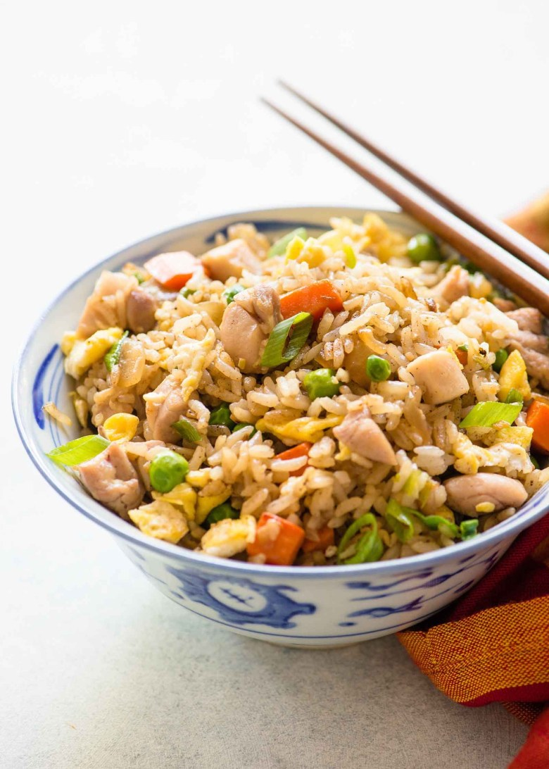 Chicken fried rice easy simple recipe